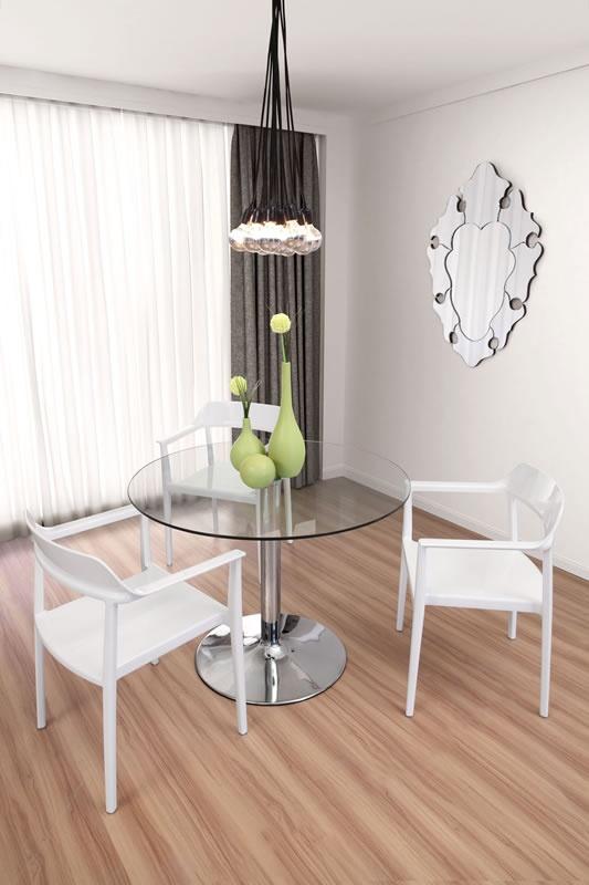 Bosonic Ceiling Lamp, Brahma Mirror, Galaxy Dining Table