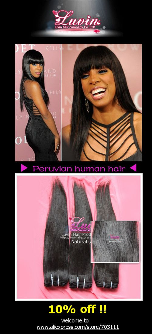 #CelebrityHairGuide Kelly Rowland Height: 5''7'  Hair texture: Peruvian Straight  Recommendation: 3pcs 26 inches of Luvin hair weft (100g/pc)  100% hand-knitting double weaving  Color: #1b off black
