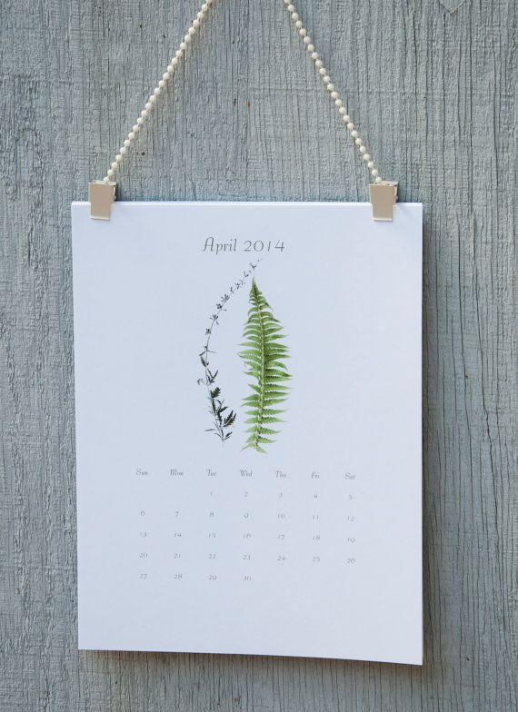 Botanical Calendar 2014