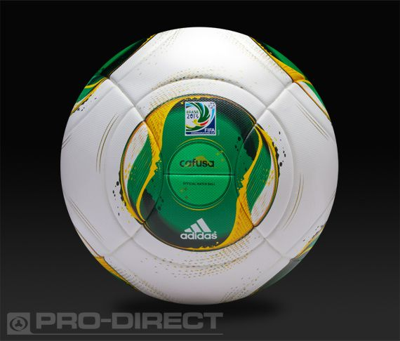 adidas Footballs - adidas Confederations Cup Official Match Ball 2013 - Football Balls - White-Vivid Yellow-Vivid Green-Dark Blue