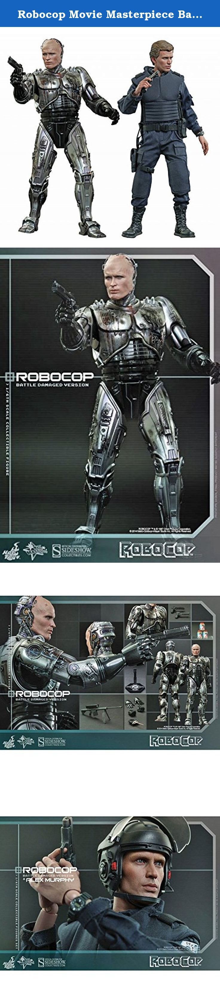"""Robocop Movie Masterpiece Battle-Damaged Robocop & Alex Murphy 1:6 Diecast Figure. Sideshow Collectibles and Hot Toys are delighted to present a special collectible figures set which includes the highly-anticipated sixth scale collectible figures of RoboCop (Battle Damaged Version) and Alex Murphy in police uniform! It is the first ever official sixth scale collectible figure which features a remarkable likeness of Peter Weller who played the unforgettable man who was brutally """"murdered""""…"""