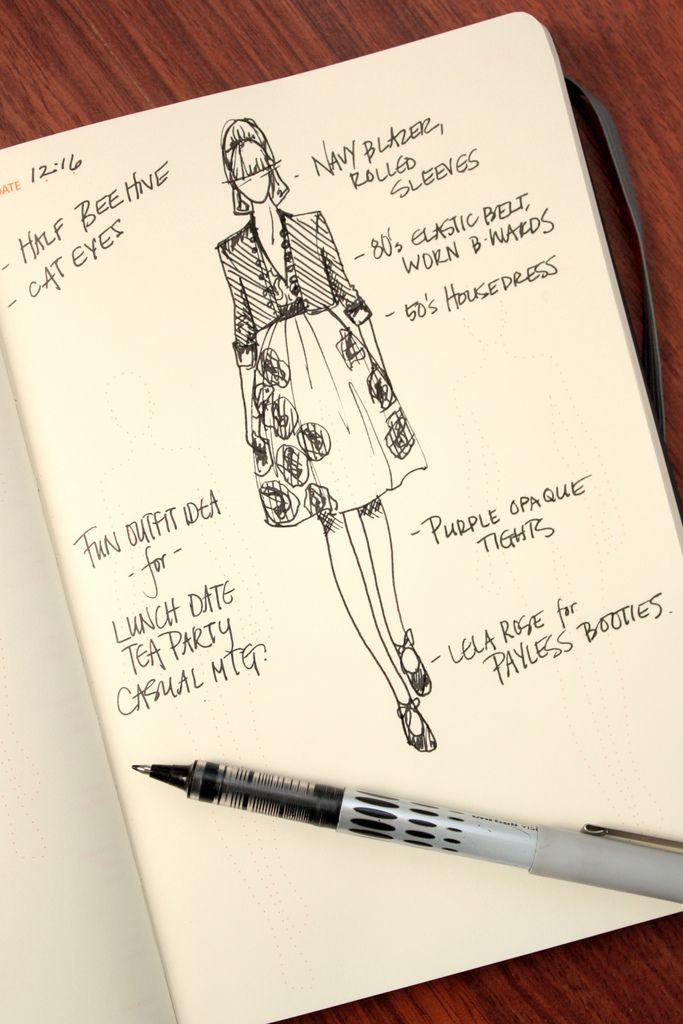 Fashionary sample page [via what i wore]
