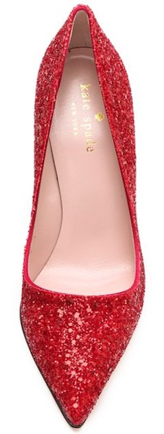 kate spade red glitter pumps - 30% off http://rstyle.me/n/u9b9znyg6
