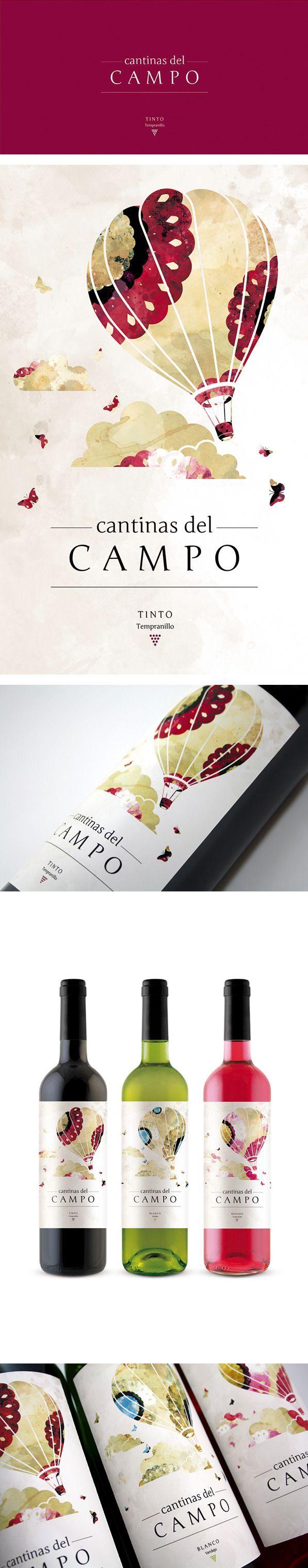 Wine label design · Cantinas del Campo by Giovanni Acquaviva: