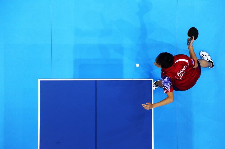 Day 1:  Table Tennis - Men's Singles - Timothy Wang of USA