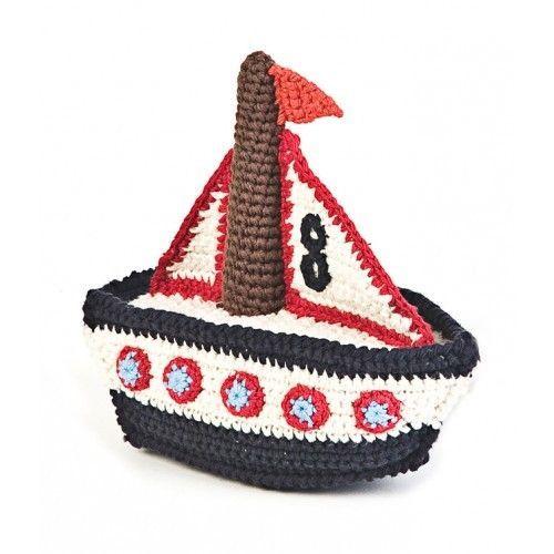 Knitting Pattern For Toy Boat : 17 Best ideas about Crochet Boat on Pinterest Crochet embellishments, Croch...