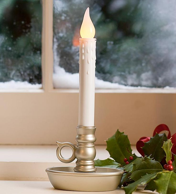 Battery-Operated Single Window LED Window Candles  Made in the USA