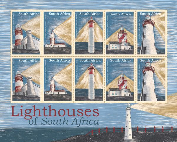 Stamps: South African Lighthouses on Behance