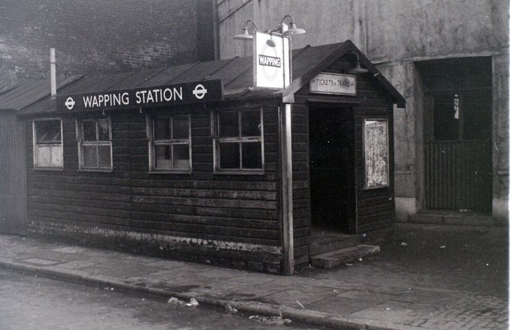 Wapping Station entrance, 1955.