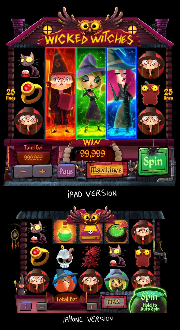 wicked witches slot on Behance