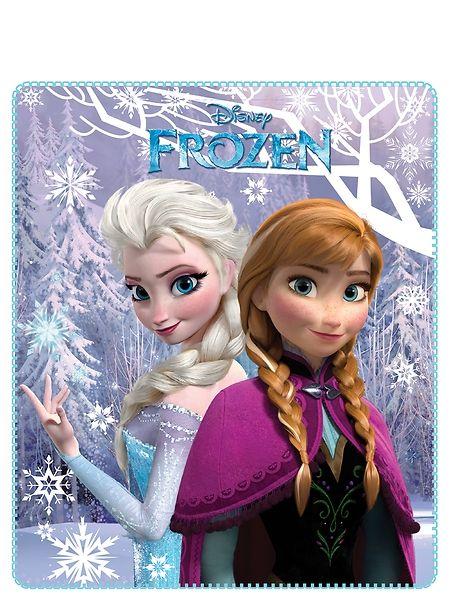 Frozen-elokuvan Anna ja Elsa koristavat ihanan pehmoista fleecepeittoa, johon on mukava kääriytyä pakkaspäivänä. Materiaali: polyesteri. Koko: 120 x 140 cm. Pesu 30 asteessa.