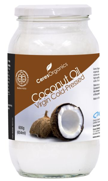 Ceres Organics Virgin Coconut oil is produced from organically grown coconut. The white flesh is sun-dried to remove excess moisture and then cold-pressed to extract high-quality virgin coconut oil that is rich in the 'good' fatty acids. Melt into a hot drink or use in your everyday cooking. Perfect for increasing your daily intake of essential fatty acids.