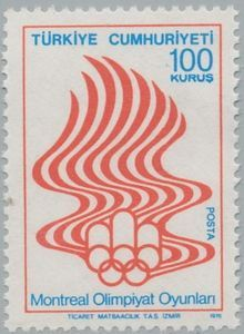 Stamp: Montreal (Turkey) (Olympic games Montreal 3v) Mi:TR 2398