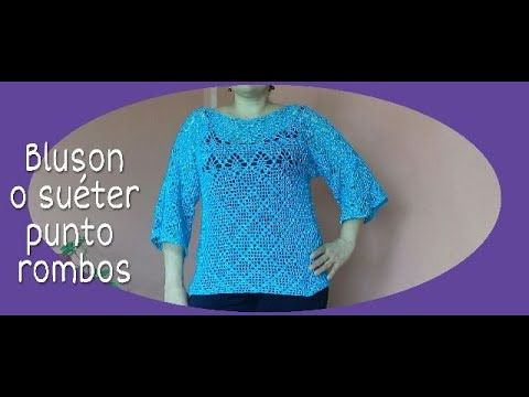 Blusa blanca para Dama en crochet - YouTube