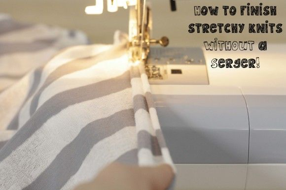 Swaddle blankets and headbands. How to sew jersey knit without a surger