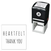 Heartfelt #ThankYou Typography Self Inking #Home #Office #Business #Stamp #Charity #Donations #Thanks