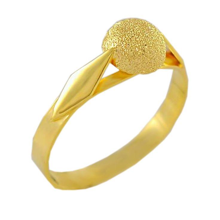 Δ482Τ  Χρυσό δαχτυλίδι με σαγρέ ροζέτα χρυσού -ένα λιτό και λεπτεπίλεπτο δαχτυλίδι για να γίνει ένα κομψό και καθημερινό κόσμημα.