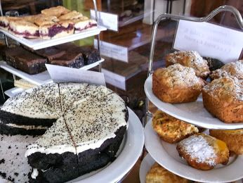 Today's baking is looking scrumptious - Chocolate & Quinoa Cake,  Banana Chia & Coconut Bread, Peach Cinnamon Passionfruit & Macadamia sweet muffins and Tomato Caper Parmesan & Leek savoury muffins