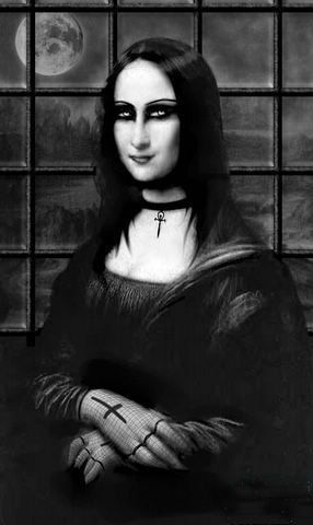 goth Mona Lisa  is it just me or does she look better