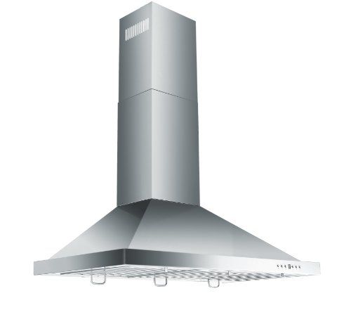 "Amazon.com: AKDY 30"" Convertible Wall Mount Stainless Steel Ductless/Ventless Range Hood with Remote AZ-B02-75N: Appliances"