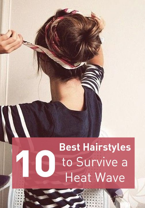 Try these cute summer up-do's that will keep you cool and stylish! This would've been good t have this past week but hey! Now I'm prepared for the next one!
