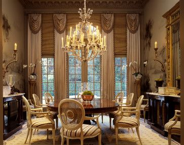 Georgian Window Treatments And Traditional Dining Rooms On Pinterest