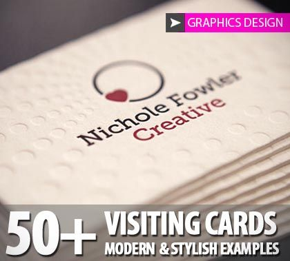 50+ Visiting Cards Modern & Stylish Examples