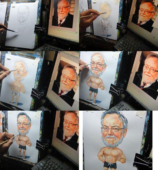 Dein Foto als Karikatur auf Leinwand inklusive Keilrahmen hier kaufen