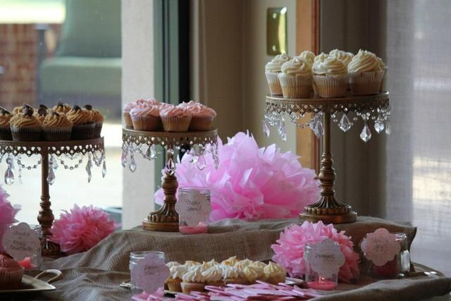 pink and gold baby shower - 640×427
