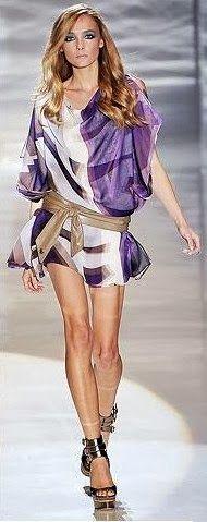Moldes Moda por Medida: TÚNICA TONS AZUL