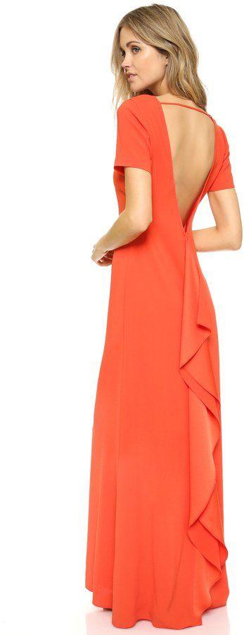 """Pin for Later: 50 Kleider für alle Gäste einer Hochzeit im Sommer  BCBGMAXAZRIA """"Cassidie"""" orange-farbenes Kleid (263 €)"""