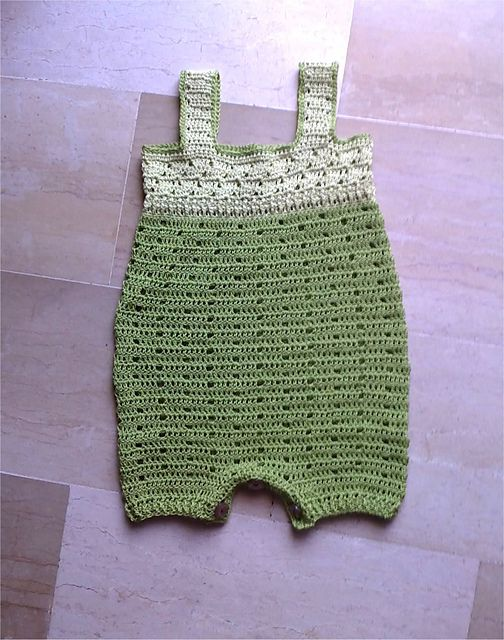 Free Crochet Pattern For Baby Romper : 25+ best ideas about Crochet romper on Pinterest Crochet ...