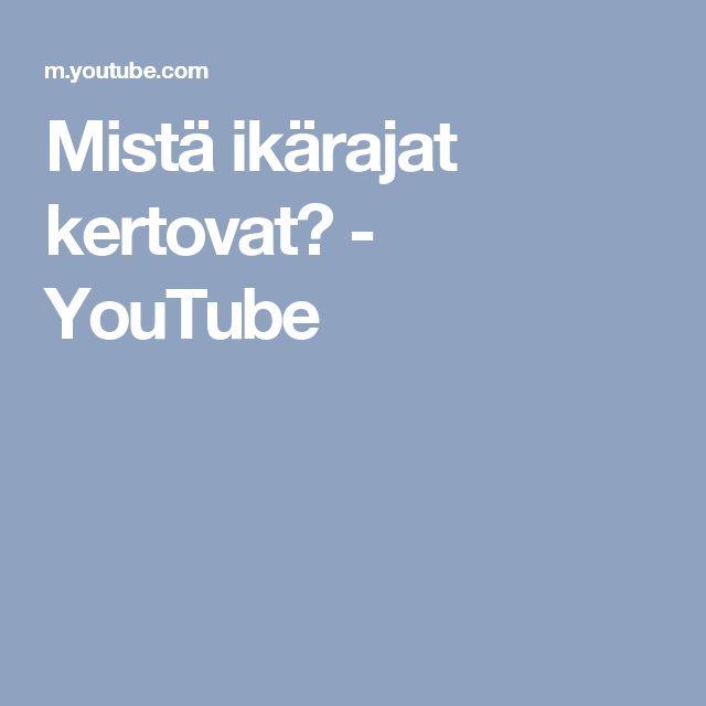 Mistä ikärajat kertovat? - YouTube