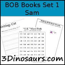 Early Reader Printables: BOB Books: Set 1 Book 2 Sam