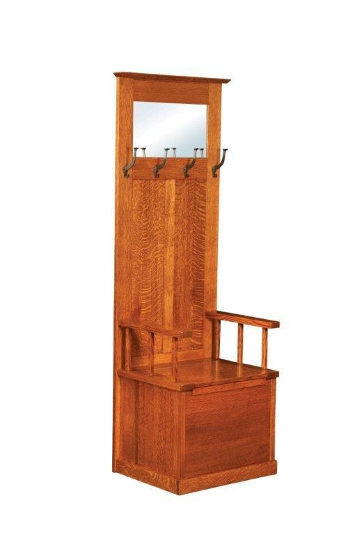 Foyer Tree Furniture : Amish heritage mission entryway bench