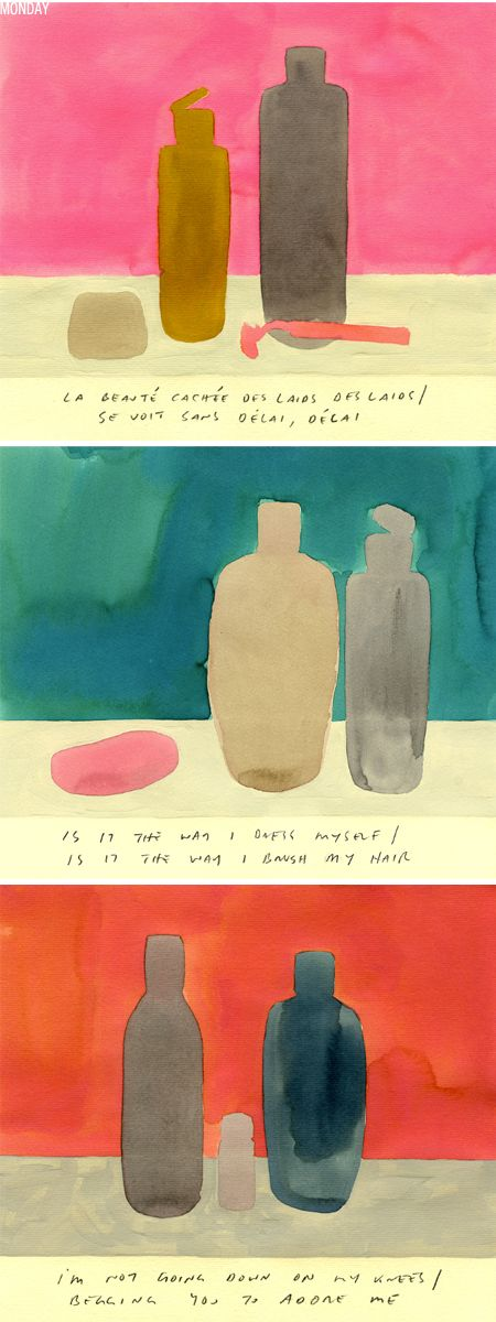 """""""...""""A month of"""" all sorts of amazing little drawings and paintings by New York based artist/illustrator {and former art director at The New York Times} Leanne Shapton..."""" at the jealous curator."""
