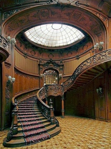 Amazing Architecture - Grand Staircase in House of Scientists, Lwów, POLAND (before 1945) / now Lviv, Ukraine / Lemberg, Austria  (in the times of the Polish Partitions by Prussia, Austria and Russia) ▶ see history, actual till today !  https://www.pinterest.com/pin/349803096033334209/ |   https://www.pinterest.com/szlachcic/news-ukraine-crisis-media/  |  https://www.pinterest.com/pin/349803096035774560/