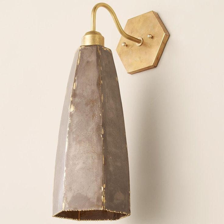 Rustic Steel Hexagon Wall Sconce - Shades of Light