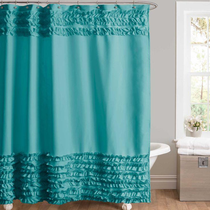 Skye Shower Curtain in Blue