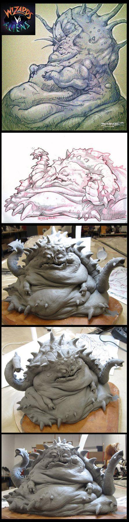 Wizards Vs. Aliens. Unused Nekross King designs. by Kaduflyer on DeviantArt