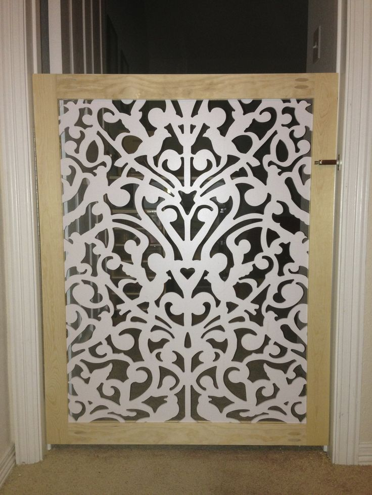 DIY Custom Pet gate. 1x3 lumber, lattice from Home Depot website and latch. #Pet #Gate