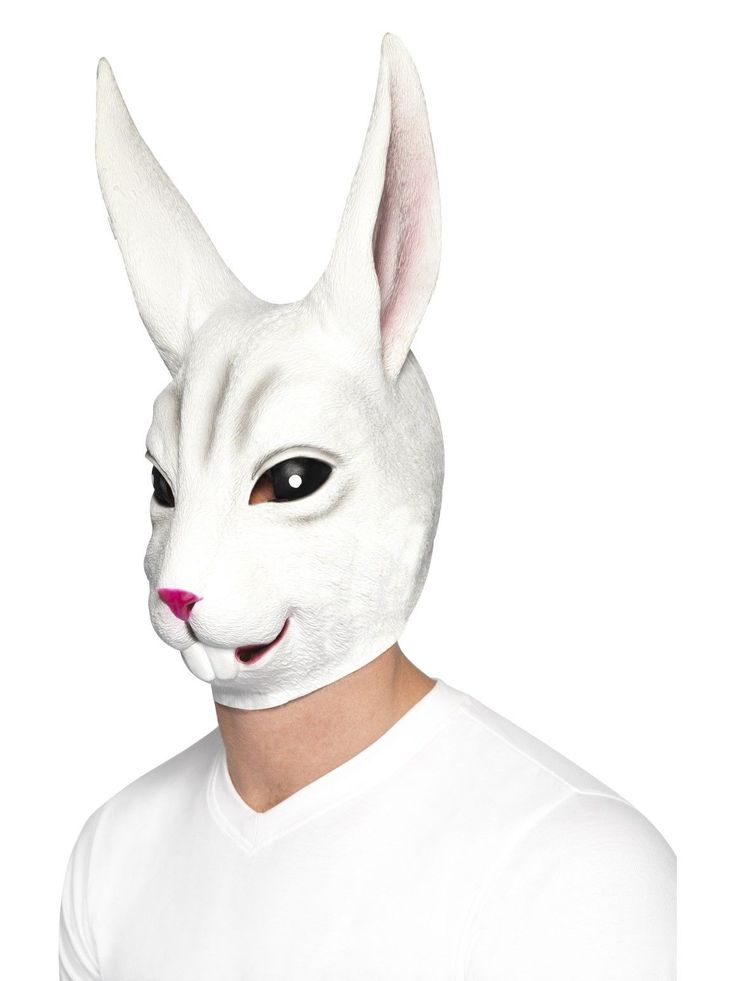 Rabbit Mask. White, Full Overhead, Latex. Costume Accessories. We will always strive to solve any issues you may have. Girls Costumes. Boys Costumes. 60s, 70s and 80s. | eBay!
