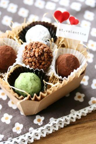 homemade ganache truffles for Valentine's Day | ガナッシュトリュフで手作りバレンタイン☆