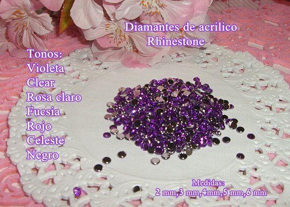 Rhinestone violeta