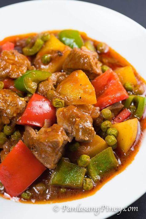 Pork Mechado Recipe - Panlasang Pinoy