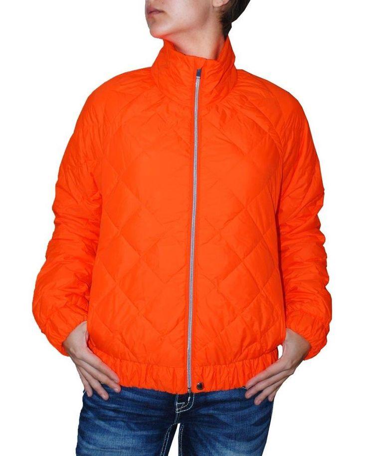 Polo Ralph Lauren Women's Orange Zip Up Lightweight Quilted Jacket (M) #PoloRalphLauren #Puffer