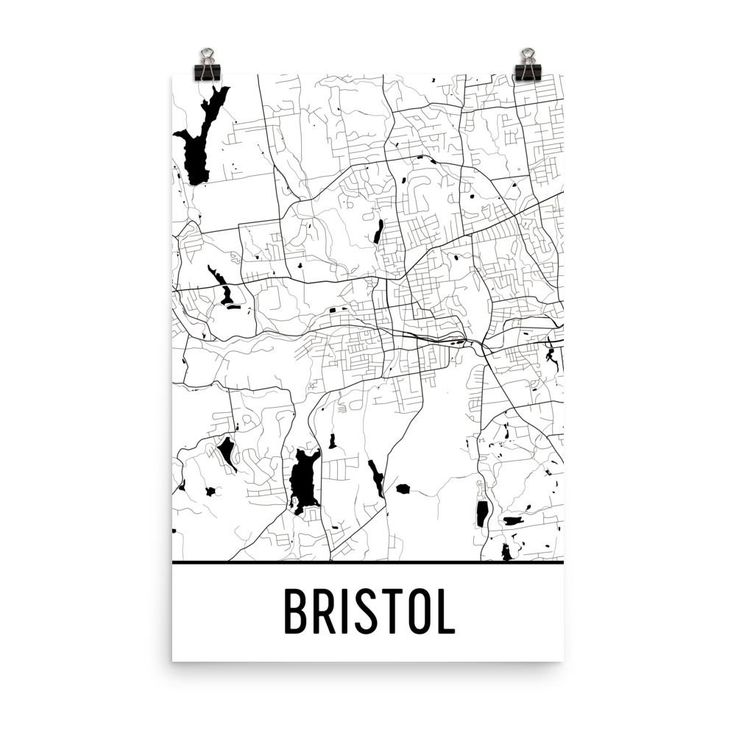 **MADE IN THE USA** You'll love this amazing Bristol Art Print! This Bristol city street map shows all of the winding streets of Bristol. This will fit any decor, and also make great gifts. If you lov