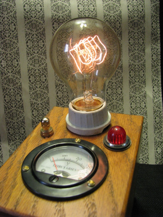 Steampunk Lamp ONE OF A Kind By Mechanique by MizzMechanique, $250.00