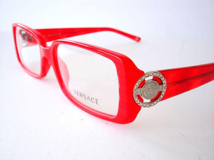 New Versace Eyeglasses 3092 Red 652 Authentic 51-16-135 #versace #Rectangular