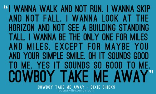 Dixie Chicks: Life, Dixiechick, Lyrics Dixie Chick, Dixie Chick Quotes, Cowboys Take Me Away Lyrics, Favorite Songs, Country Girls, Country Music, Country Lyrics